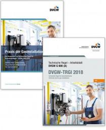 Buchpaket: G 600 DVGW-TRGI 2018 und Praxis Gasinstallationen - Kommentar