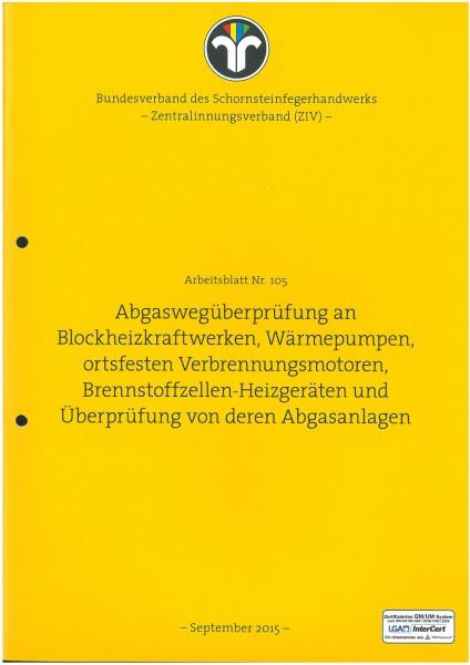 ZIV AB 105 - Abgaswegüberprüfung   ZIV-Arbeitsblätter ...